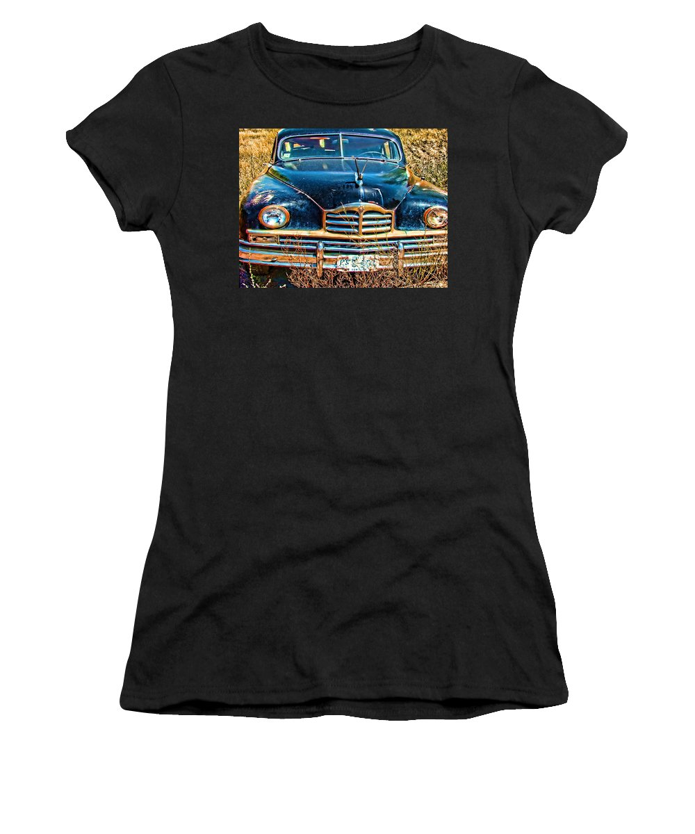 Packard Women's T-Shirt featuring the photograph Packard II by Cathy Anderson