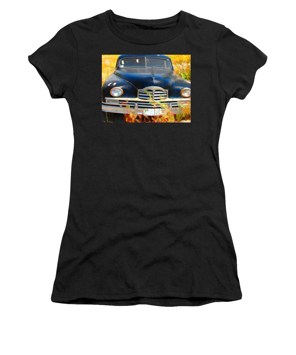 Packard Women's T-Shirt featuring the digital art Packard IIi by Cathy Anderson