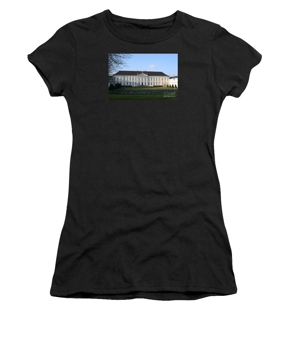 Palace Women's T-Shirt (Athletic Fit) featuring the photograph Palace Bellevue - Berlin by Christiane Schulze Art And Photography
