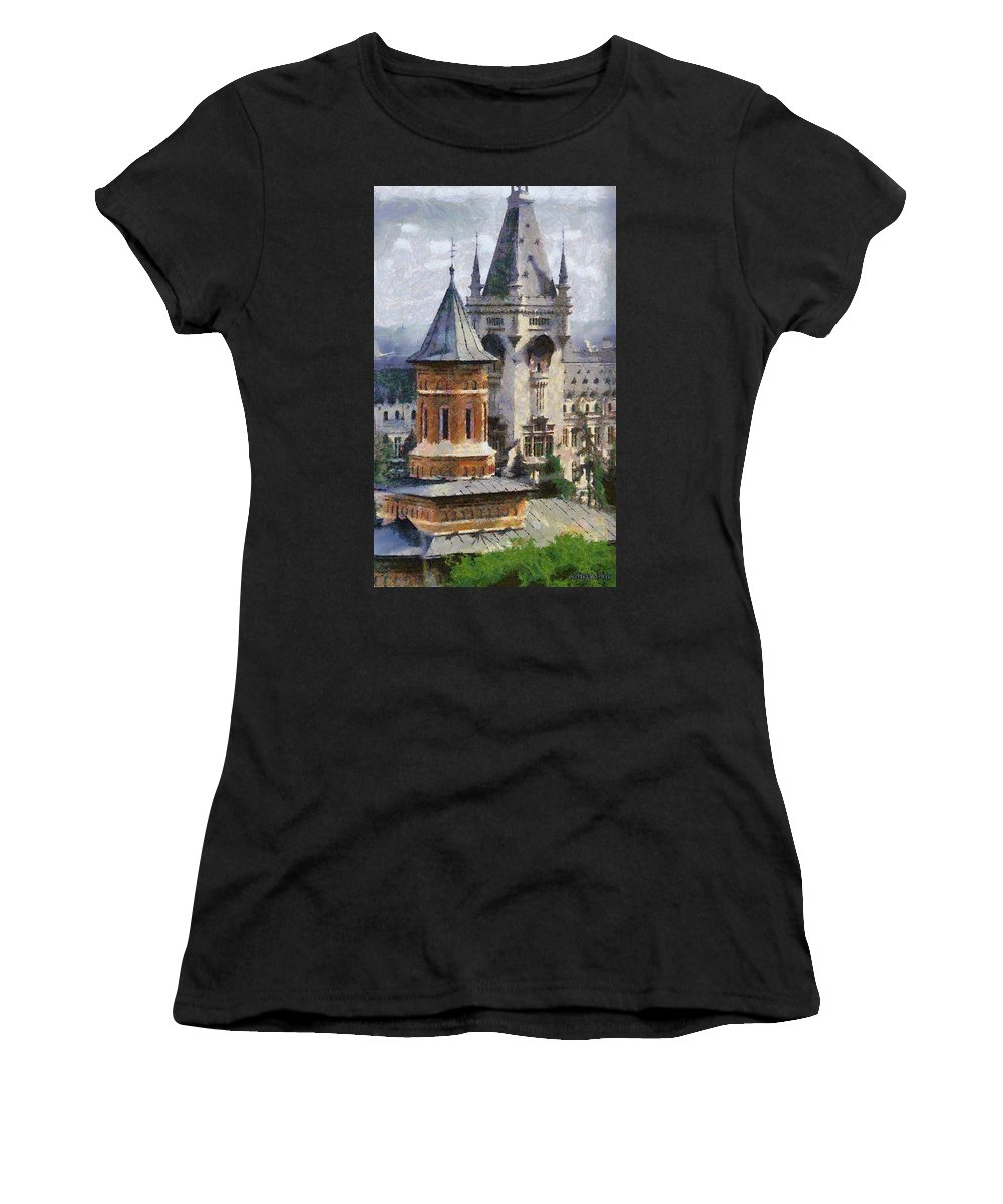 Chapel Women's T-Shirt featuring the painting Palace Of Culture by Jeffrey Kolker