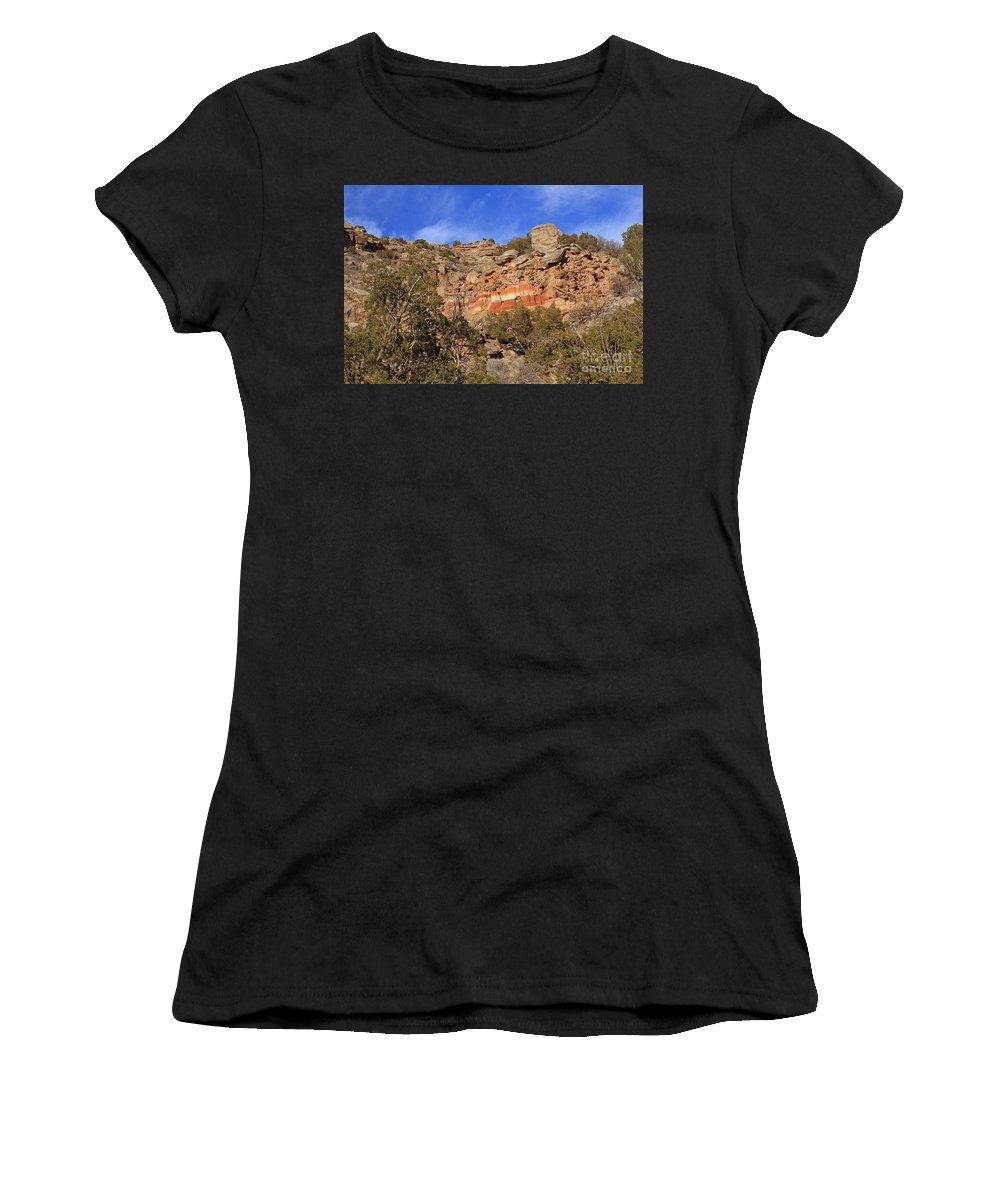 Palo Duro Canyon Women's T-Shirt (Athletic Fit) featuring the photograph Palo Duro Canyon 021713.102 by Ashley M Conger