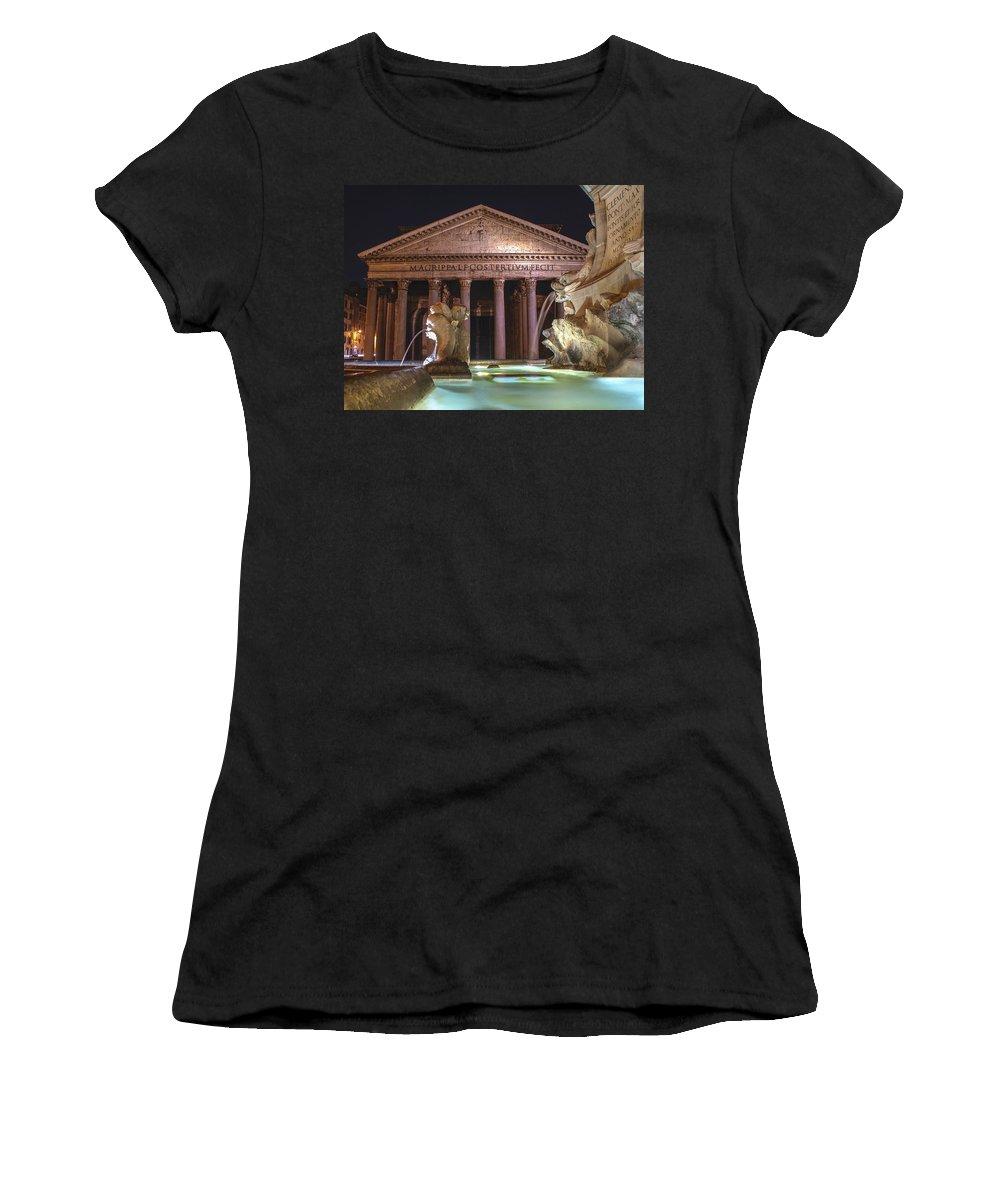 Pantheon Women's T-Shirt featuring the photograph Pantheon by Linda Dunn