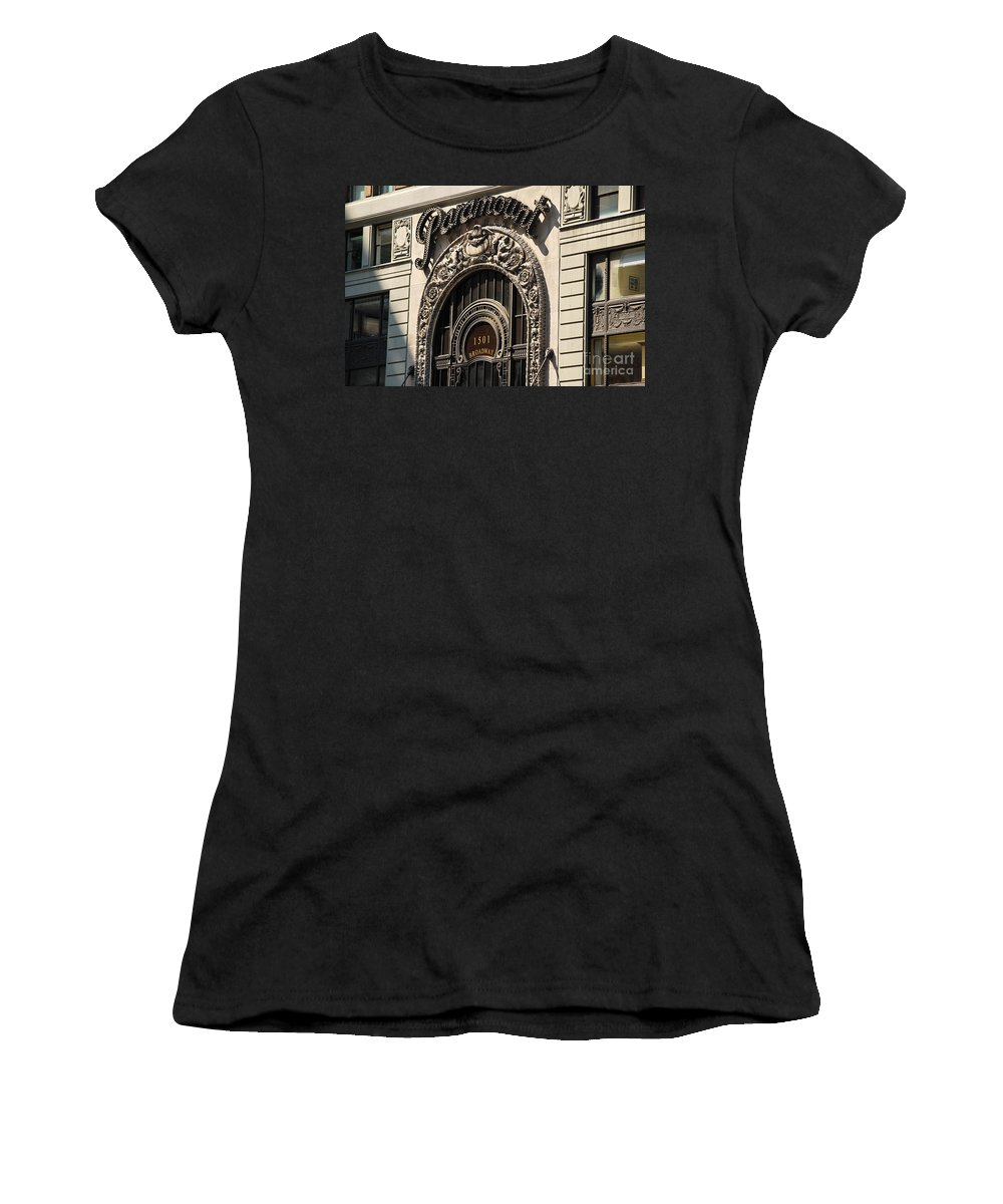 Paramount Women's T-Shirt featuring the photograph Paramount - Broadway - Nyc by Carlos Alkmin