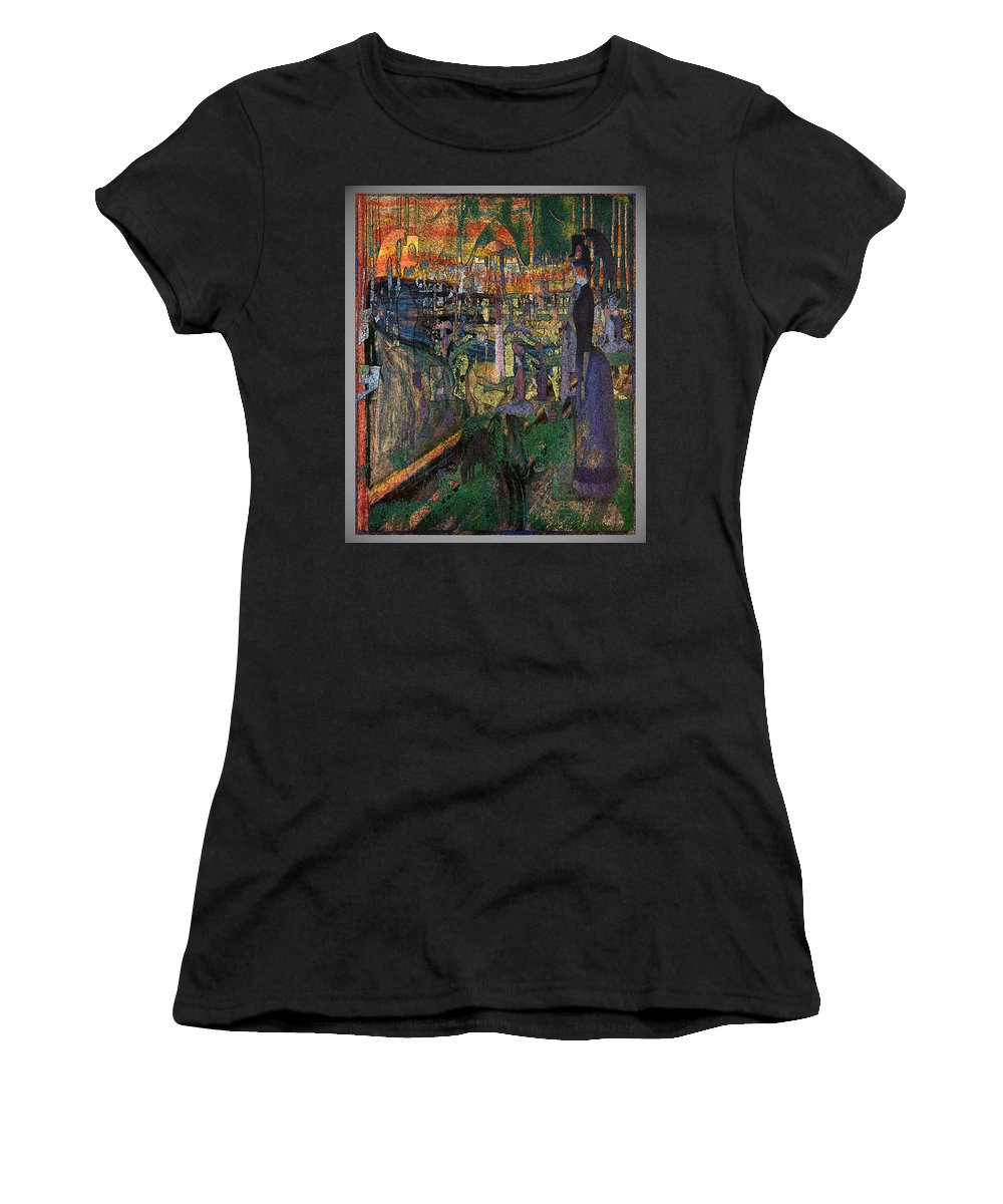 Abstract Women's T-Shirt (Athletic Fit) featuring the digital art Park Munch Scream 7 by Zac AlleyWalker Lowing