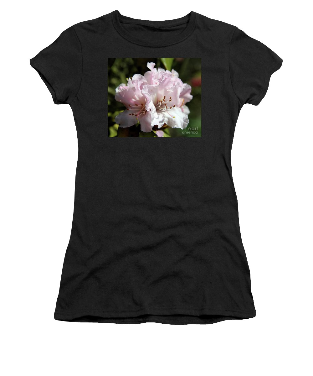 Rhododendron Women's T-Shirt (Athletic Fit) featuring the photograph Pastel Springtime by Christiane Schulze Art And Photography