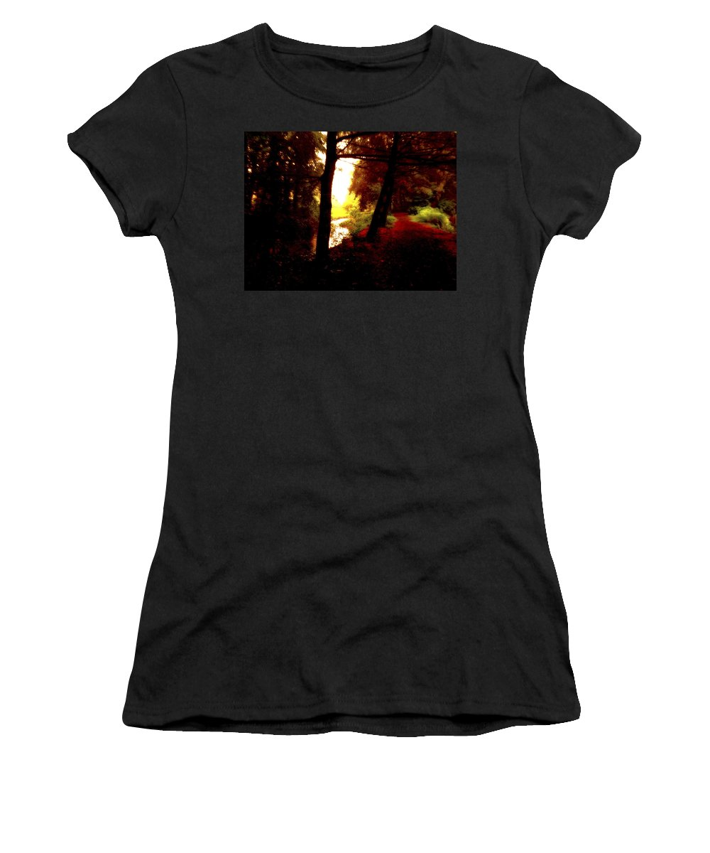 Art Women's T-Shirt featuring the digital art Into The Morning Light by Femina Photo Art By Maggie