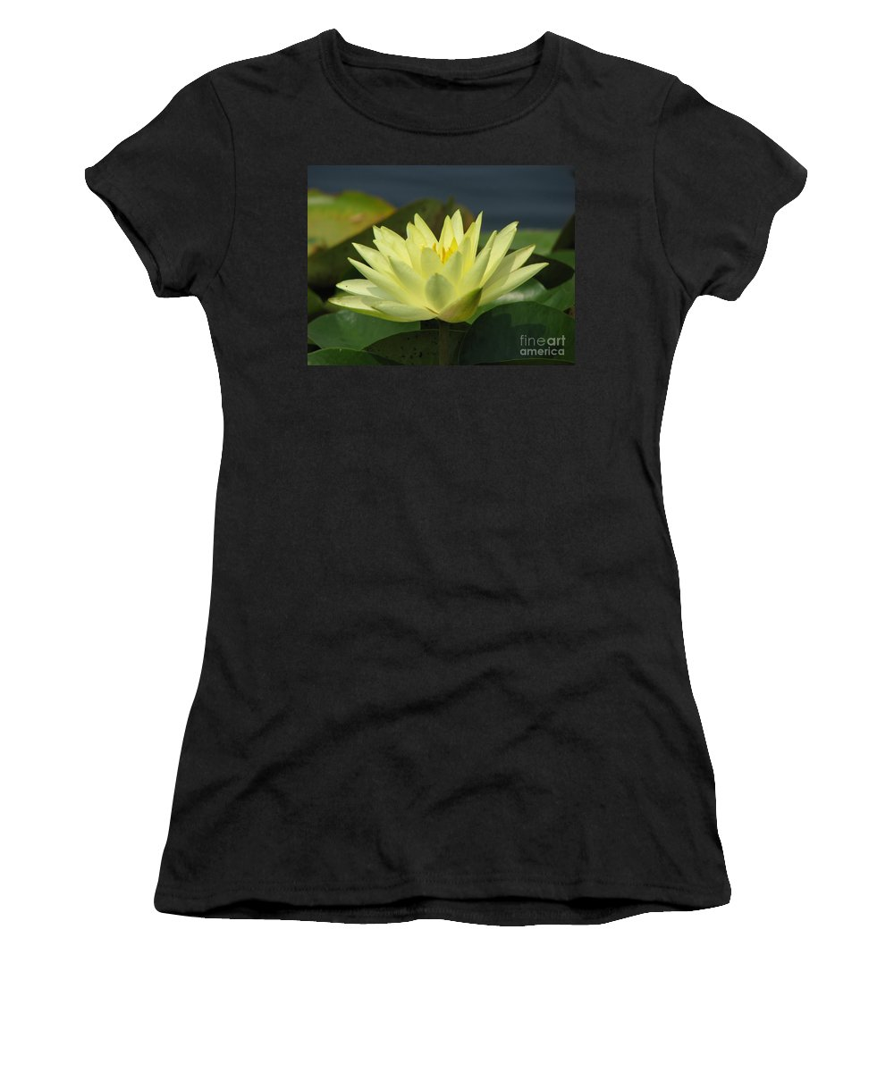 Lillies Women's T-Shirt (Athletic Fit) featuring the photograph Peace by Amanda Barcon