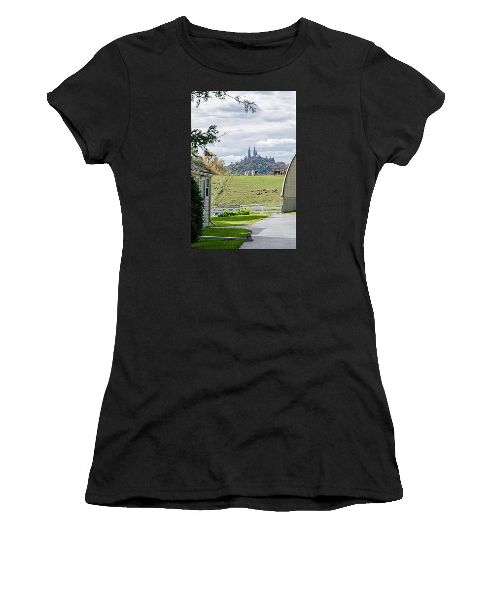 Peace In The Country Women's T-Shirt (Athletic Fit) featuring the photograph Peace In The Country by Susan McMenamin