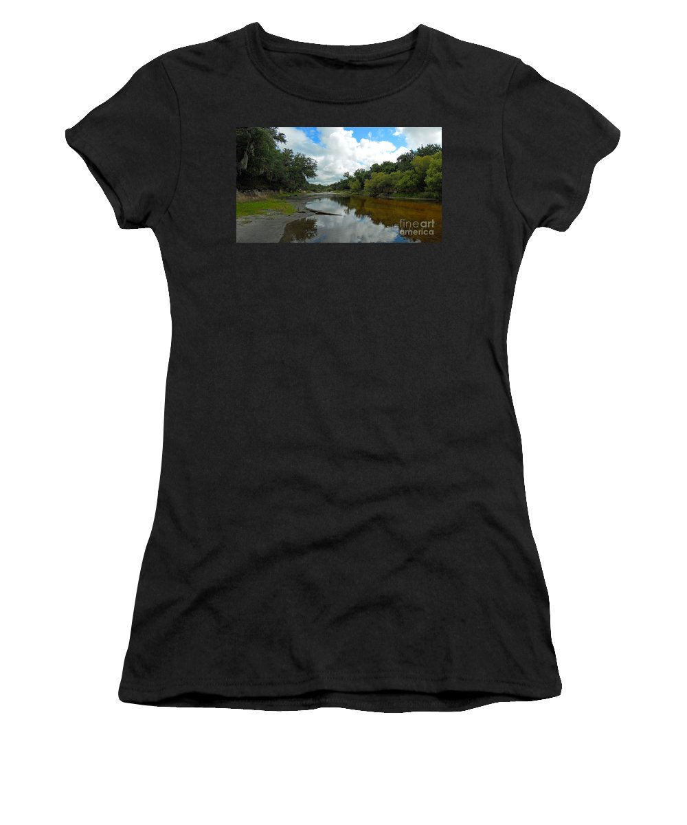 River Women's T-Shirt featuring the photograph Peace River 2 by Nancy L Marshall