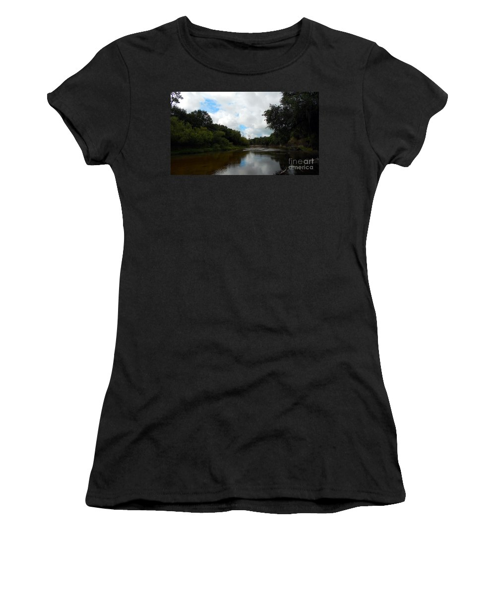 River Women's T-Shirt featuring the photograph Peace River 3 by Nancy L Marshall