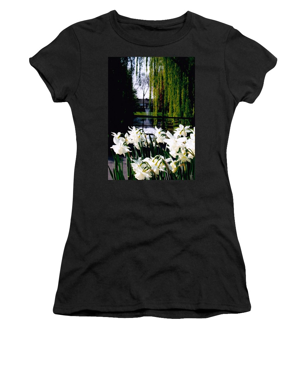 Canal Women's T-Shirt (Athletic Fit) featuring the photograph Peaceful Canal by Glenn Aker