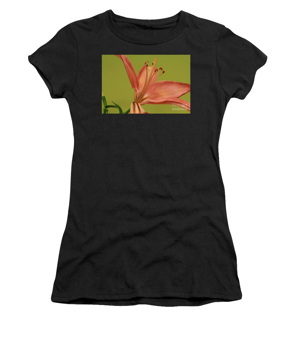 Lily Women's T-Shirt (Athletic Fit) featuring the photograph Peach Lily 4 by Joseph Marquis