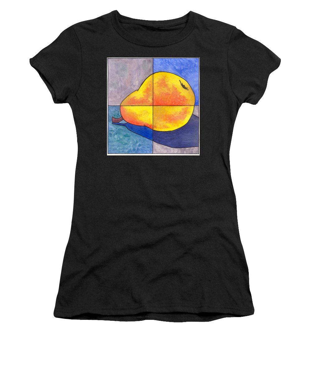 Pear Women's T-Shirt (Athletic Fit) featuring the painting Pear I by Micah Guenther