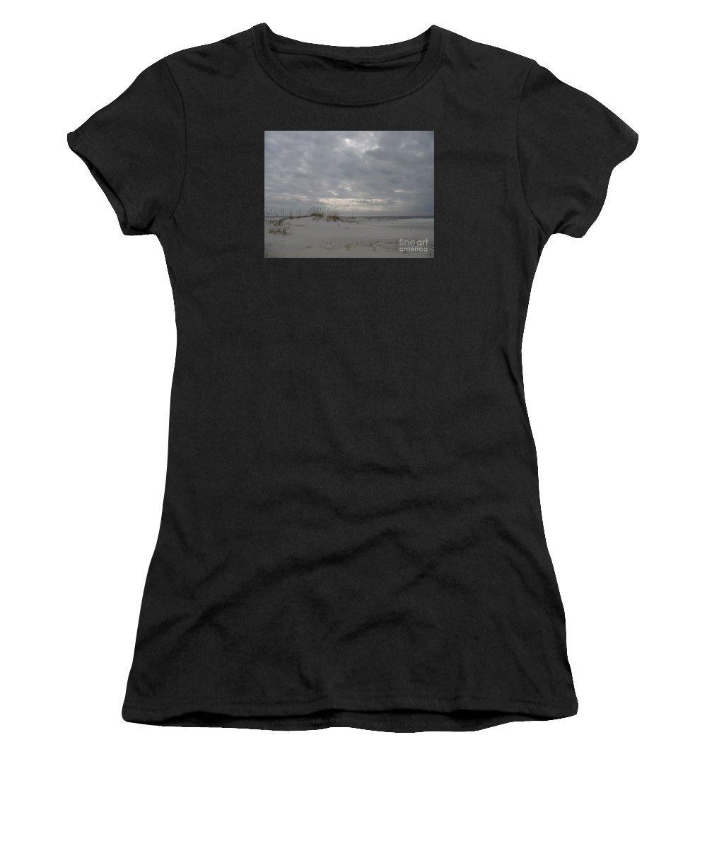 Beach Women's T-Shirt featuring the photograph Pensacola Beach After Storm by Christiane Schulze Art And Photography