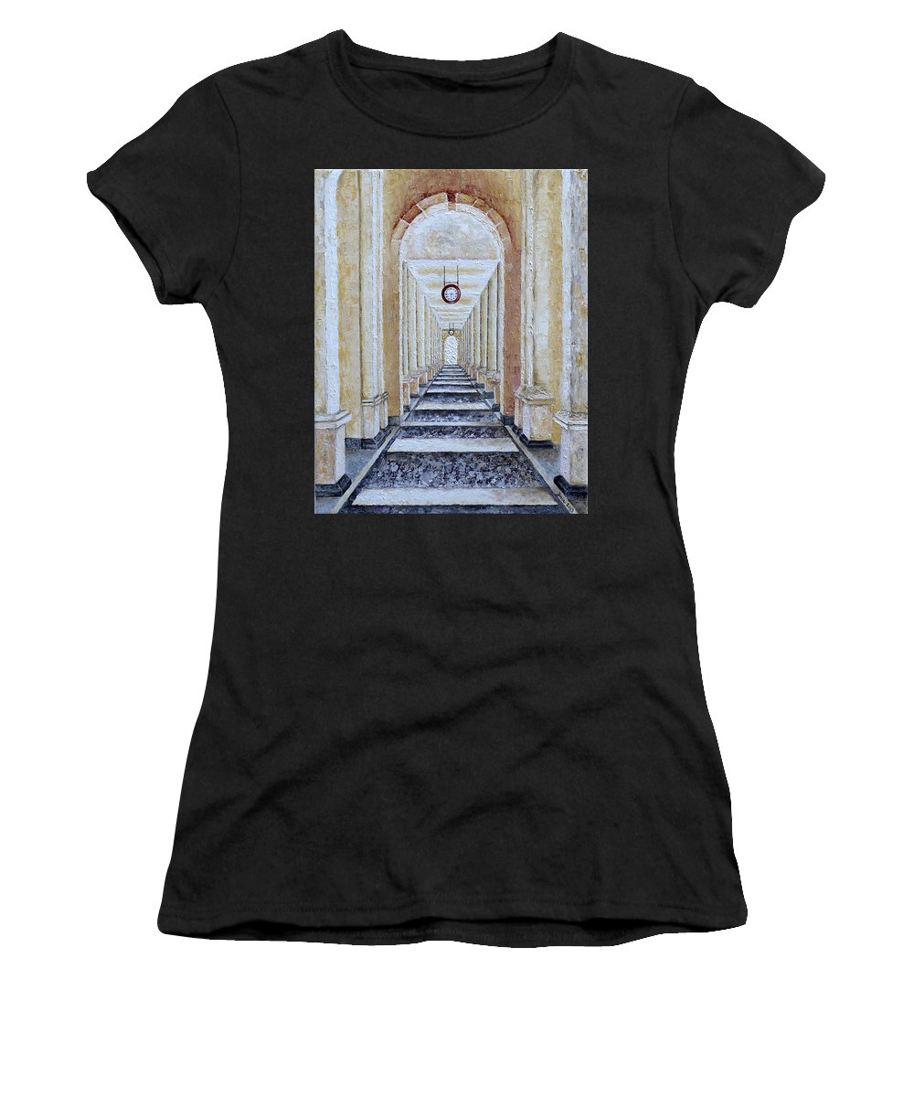 Time Women's T-Shirt (Athletic Fit) featuring the painting Perspective View by Draia Coralia