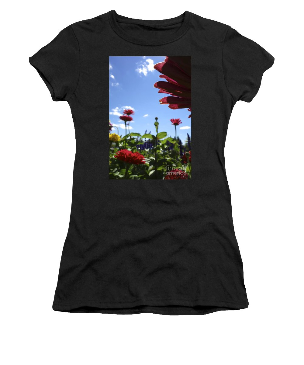 Flowers Women's T-Shirt (Athletic Fit) featuring the photograph Petal Nation by Jacqueline Athmann