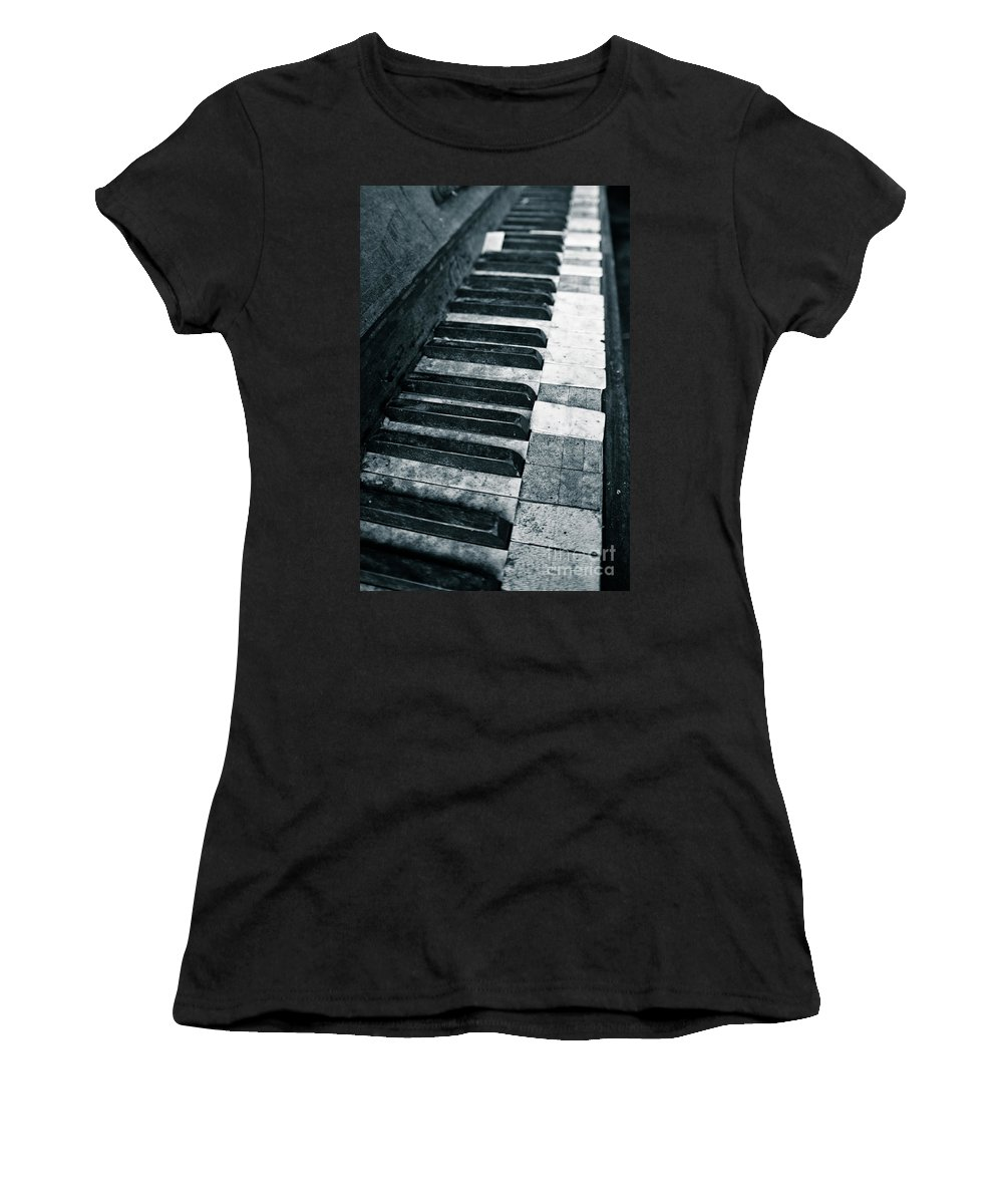 Piano Women's T-Shirt featuring the photograph Piano Keys by Brothers Beerens