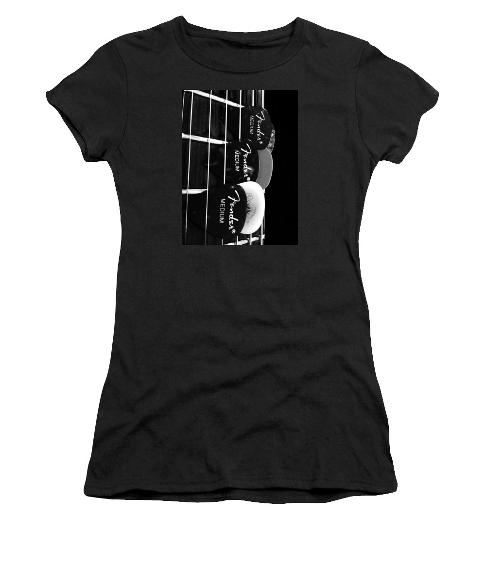 Guitar Women's T-Shirt featuring the photograph Pick It by Sonja Dover