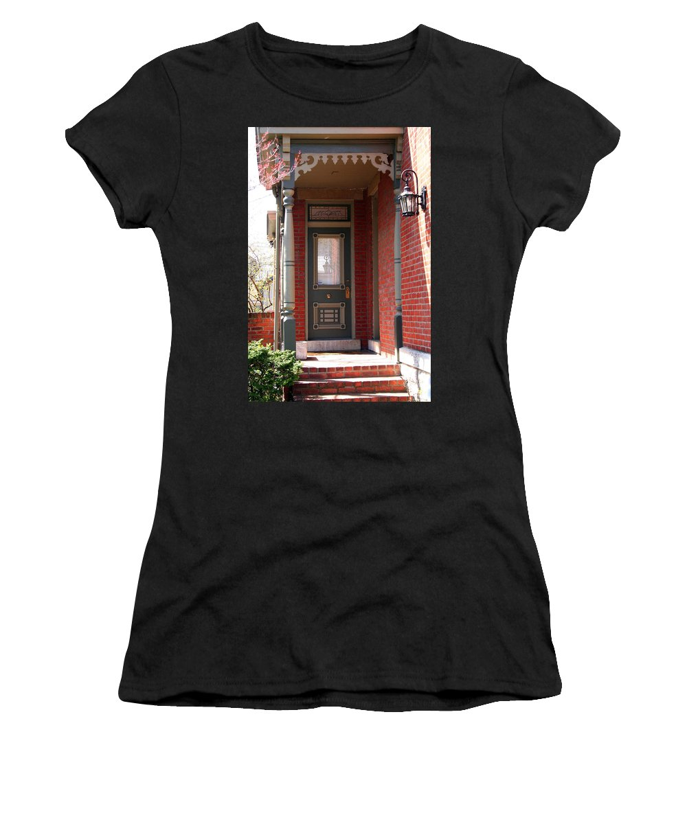 Picturesque Women's T-Shirt featuring the photograph Picturesque Porch by Laurel Talabere