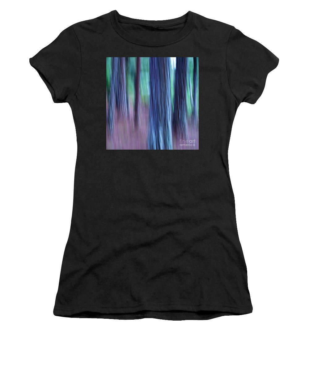 Abstract Women's T-Shirt featuring the photograph Pine Trees by Heiko Koehrer-Wagner