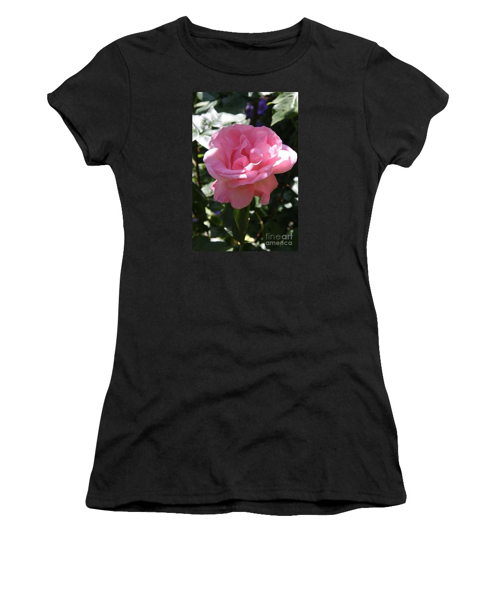 Rose Women's T-Shirt (Athletic Fit) featuring the photograph Pink Rose by Christiane Schulze Art And Photography