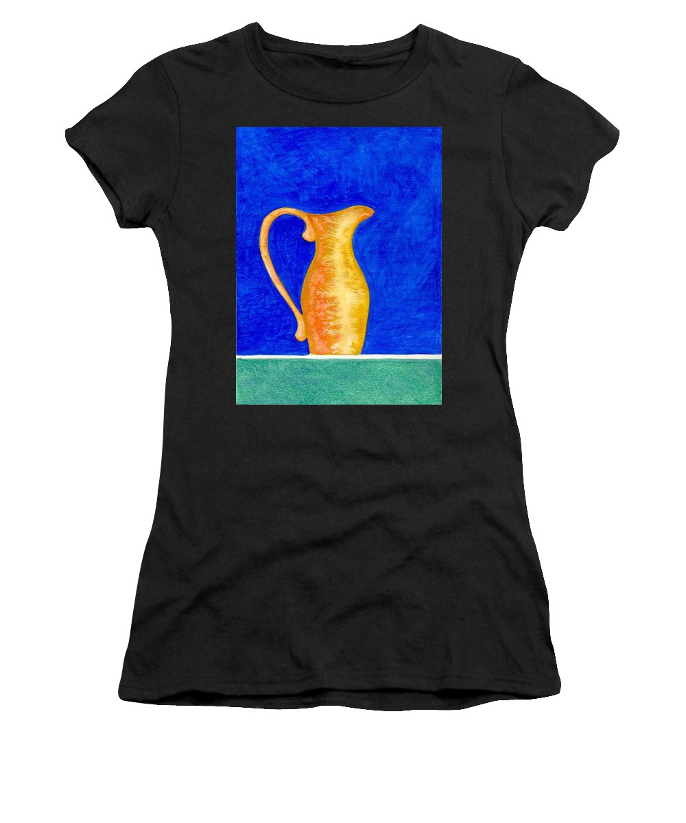 Still Life Women's T-Shirt (Athletic Fit) featuring the painting Pitcher 2 by Micah Guenther