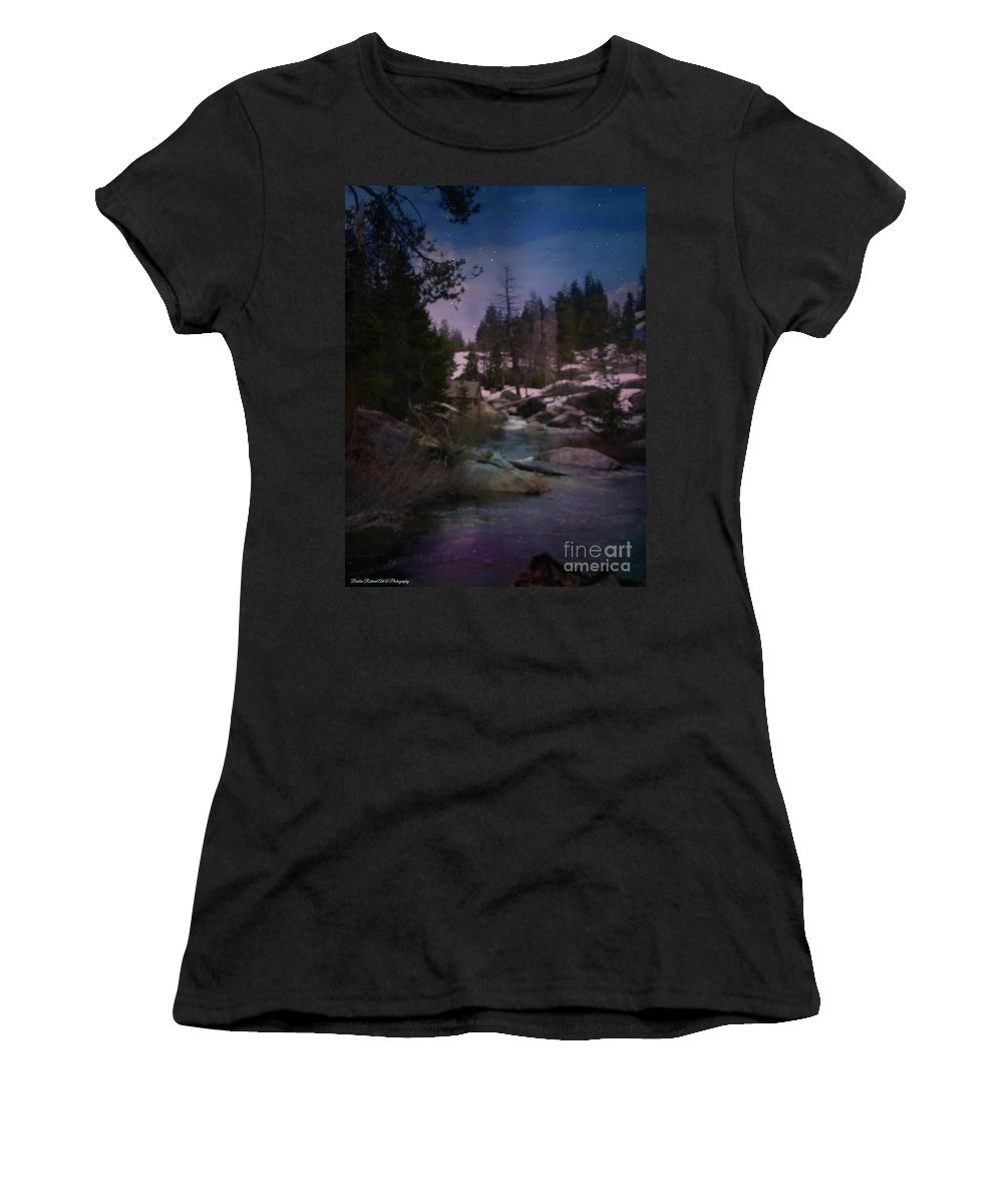 Acrylic Prints Women's T-Shirt featuring the photograph Plumas River In Sierras by Bobbee Rickard