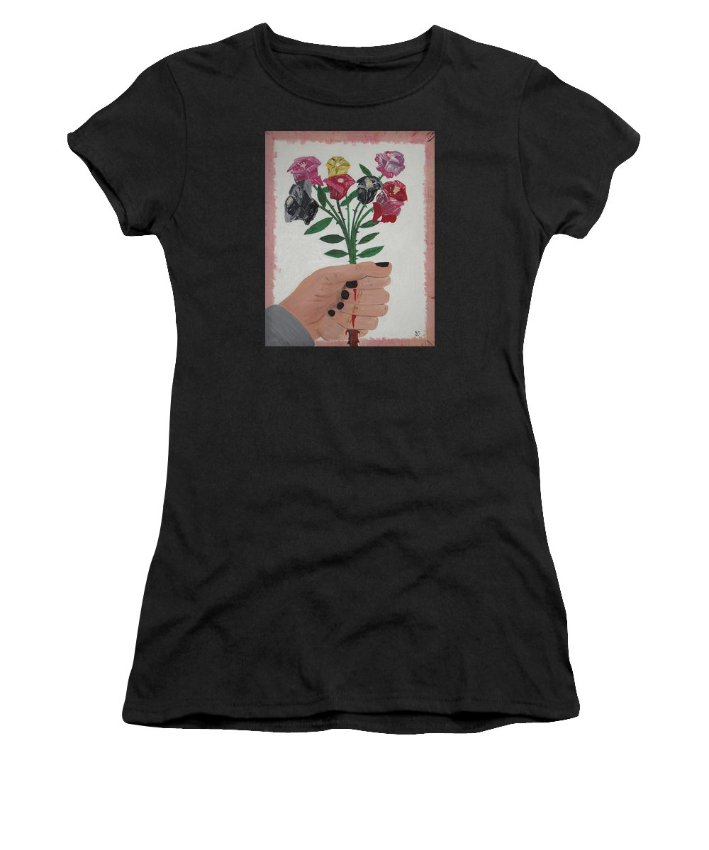 Painting Women's T-Shirt featuring the painting Point Of Beauty by Dean Stephens