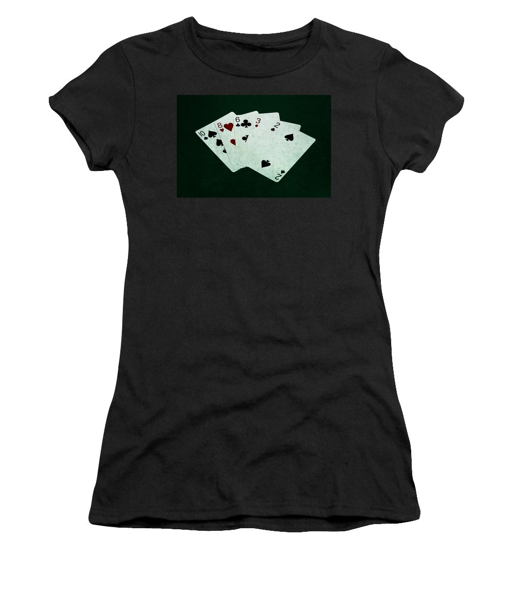 Poker Women's T-Shirt featuring the photograph Poker Hands - High Card 4 by Alexander Senin
