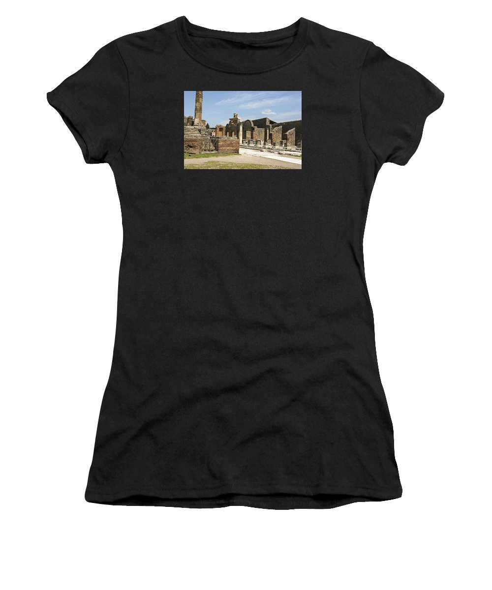 Italy 2014 Women's T-Shirt (Athletic Fit) featuring the photograph Pompeii 3 by Eric Swan