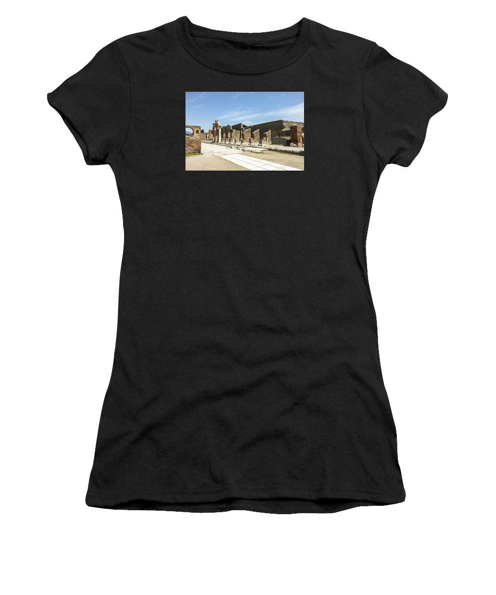 Italy 2014 Women's T-Shirt (Athletic Fit) featuring the photograph Pompeii 5 by Eric Swan