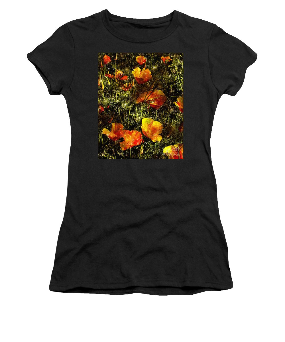 Poppies Women's T-Shirt featuring the painting Poppies Will Make Them Sleep by RC DeWinter