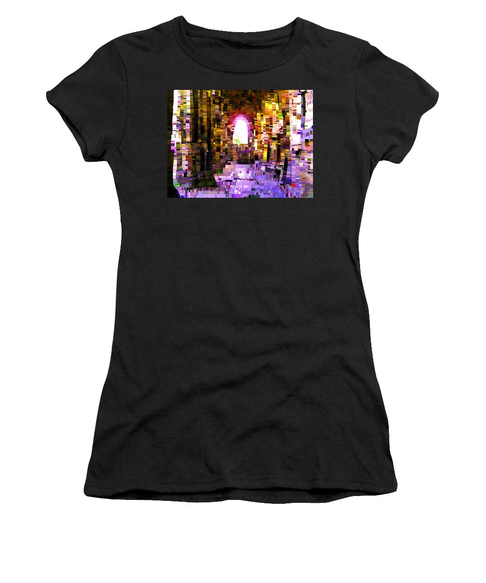 Post-it Women's T-Shirt (Athletic Fit) featuring the painting Post-it Archway by Bruce Nutting