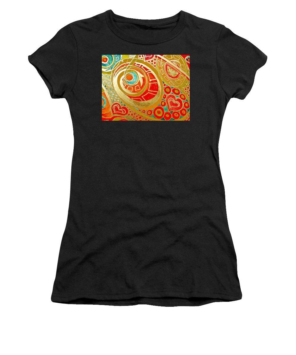 Potential Women's T-Shirt (Athletic Fit) featuring the drawing Potentials Of Loving Heart by Sheree Kennedy