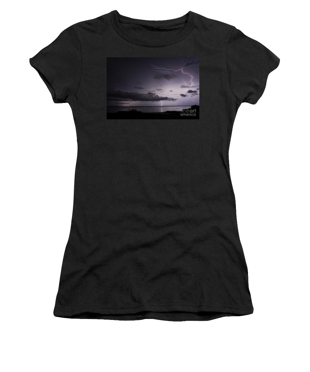 Powerful Women's T-Shirt featuring the photograph Powerful Tranquility by Quinn Sedam