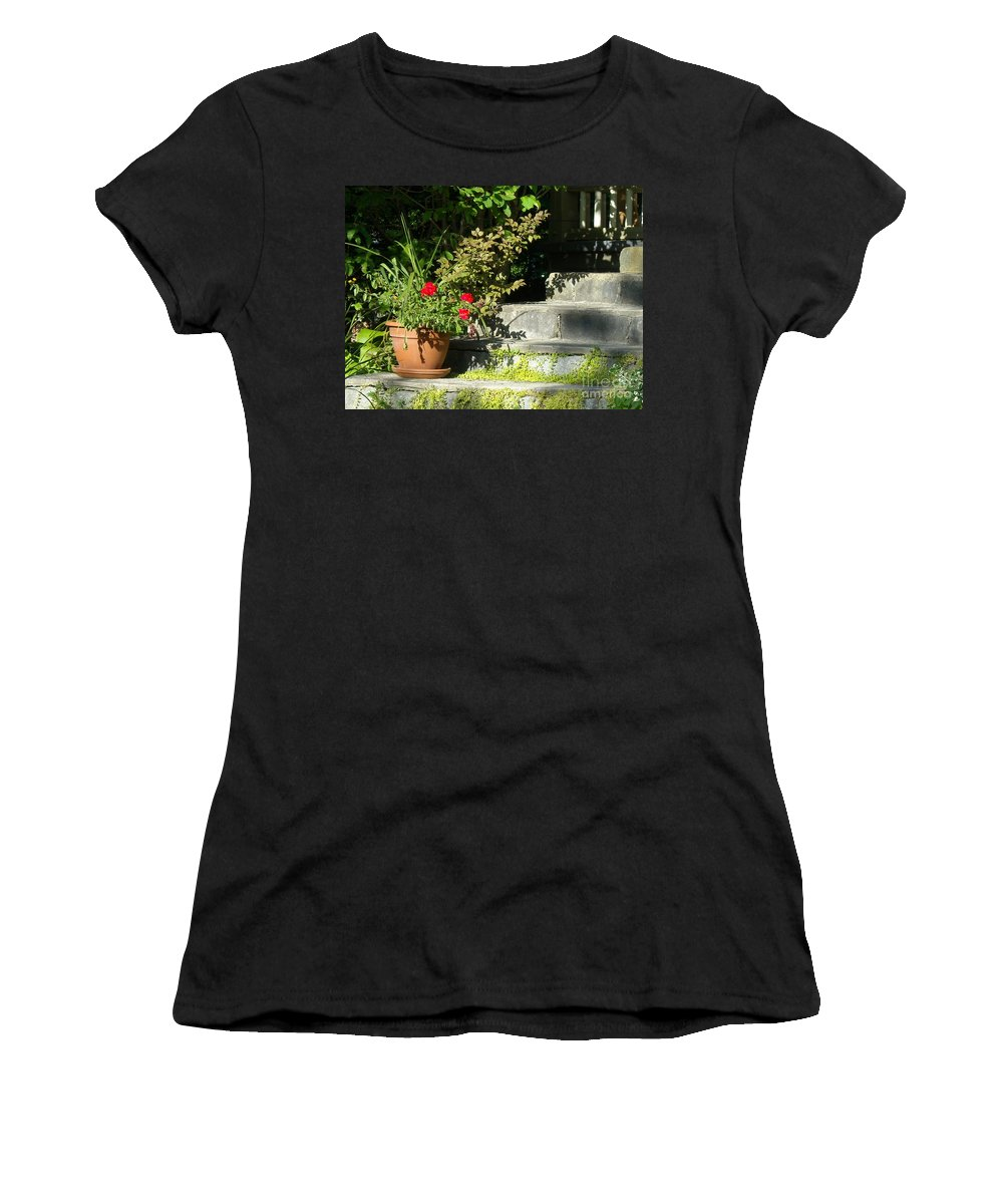 Flowers Women's T-Shirt (Athletic Fit) featuring the photograph Pretty Gardens by Line Gagne