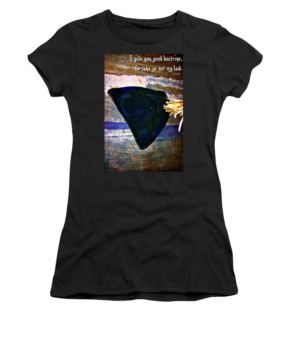 Jesus Women's T-Shirt featuring the digital art Proverbs 4 2 by Michelle Greene Wheeler