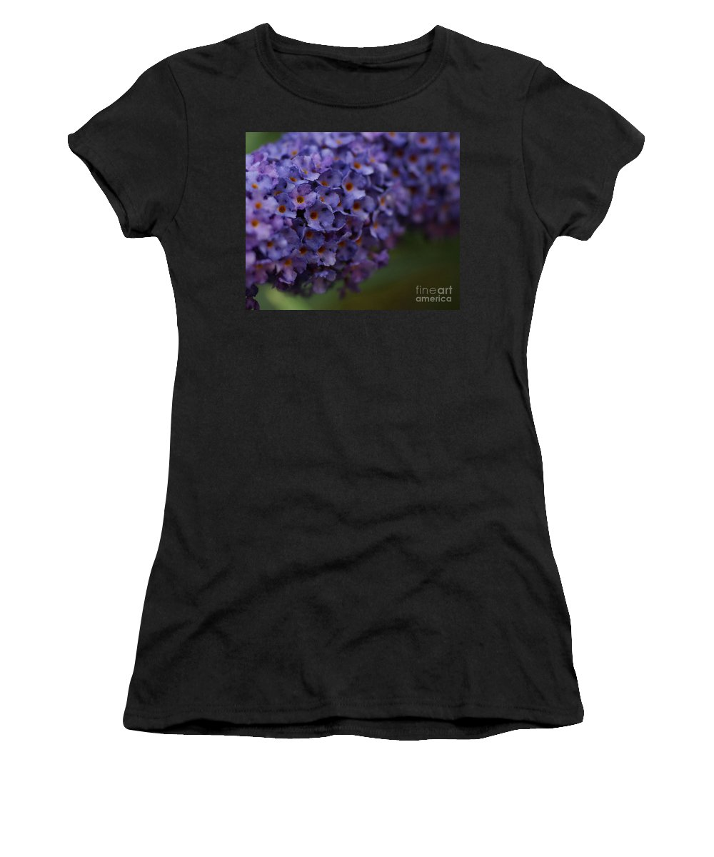 Purple Women's T-Shirt featuring the photograph Purple Flowers 1 by Carol Lynch