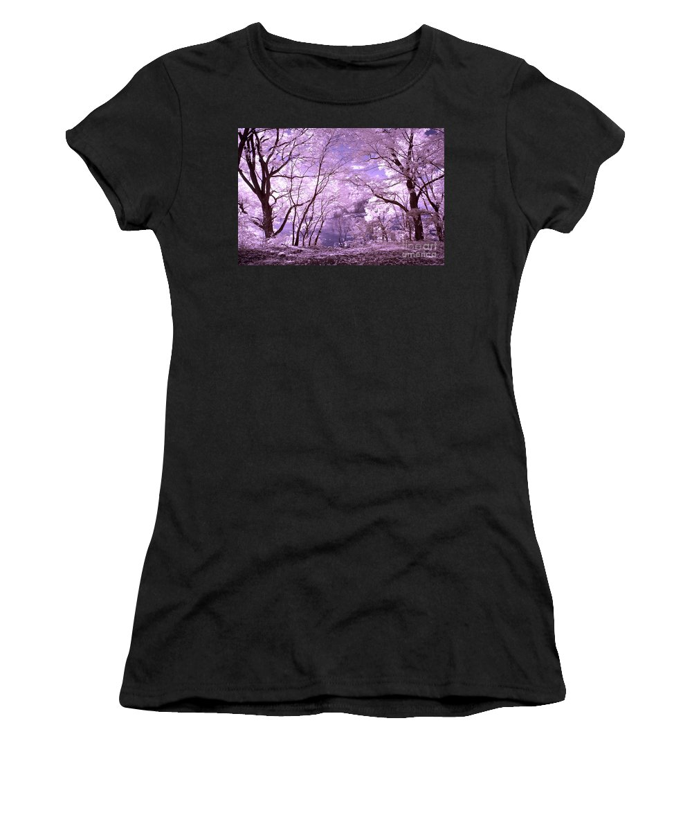 Infrared Women's T-Shirt featuring the photograph Purple Forest by Paul W Faust - Impressions of Light