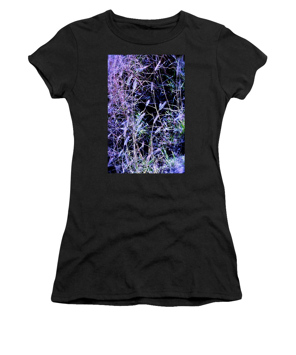 Purple Women's T-Shirt featuring the photograph Purple Ground Cover by M E Wood