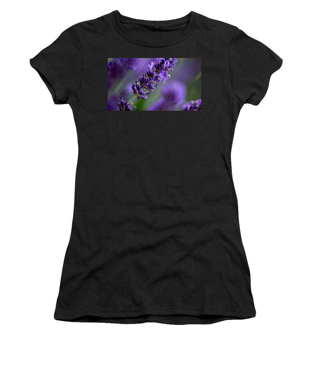 Blumen Women's T-Shirt featuring the photograph Purple Nature - Lavender Lavandula by Eva-Maria Di Bella