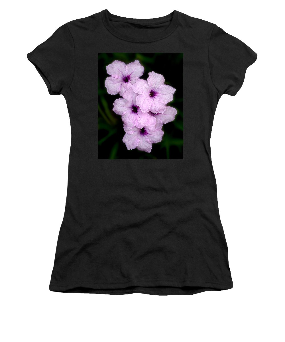 Flowers Women's T-Shirt featuring the photograph Purple Passion by Doug Heslep