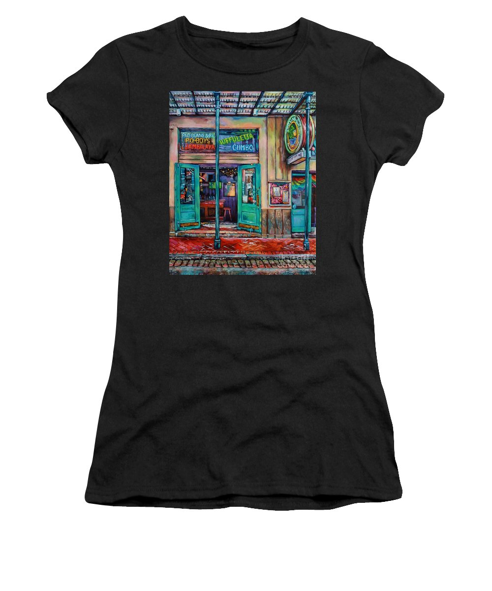 New Orleans Women's T-Shirt featuring the painting Quarter Of A View by Lisa Tygier Diamond
