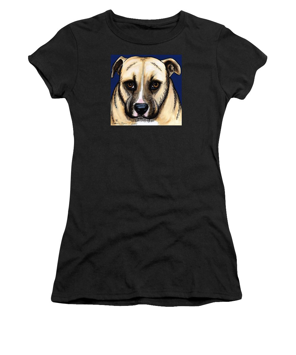 Dog Women's T-Shirt featuring the painting Rambo by Katherine Plumer