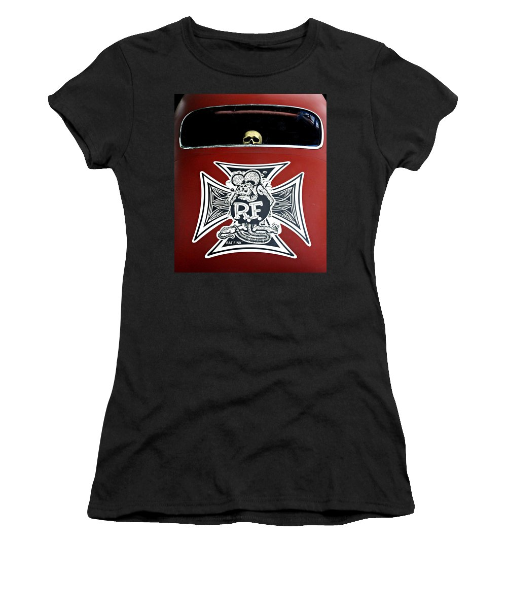 Rat Fink Women's T-Shirt featuring the photograph Rat Fink Big Daddy Roth by Dave Mills