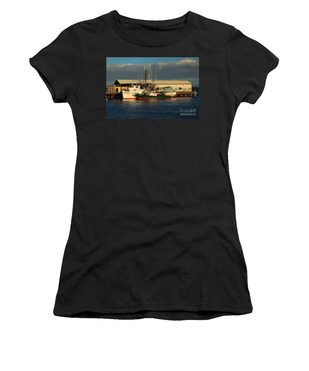 Port Angles Women's T-Shirt (Athletic Fit) featuring the photograph Ready For The Day by Adam Jewell