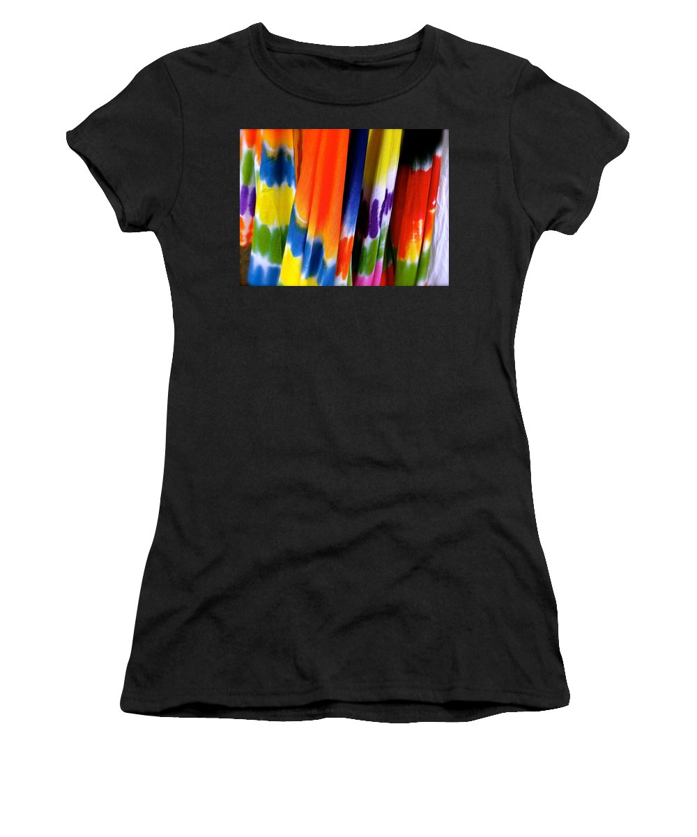 Tie Dye Women's T-Shirt (Athletic Fit) featuring the photograph Ready Made Rainbows by Ira Shander