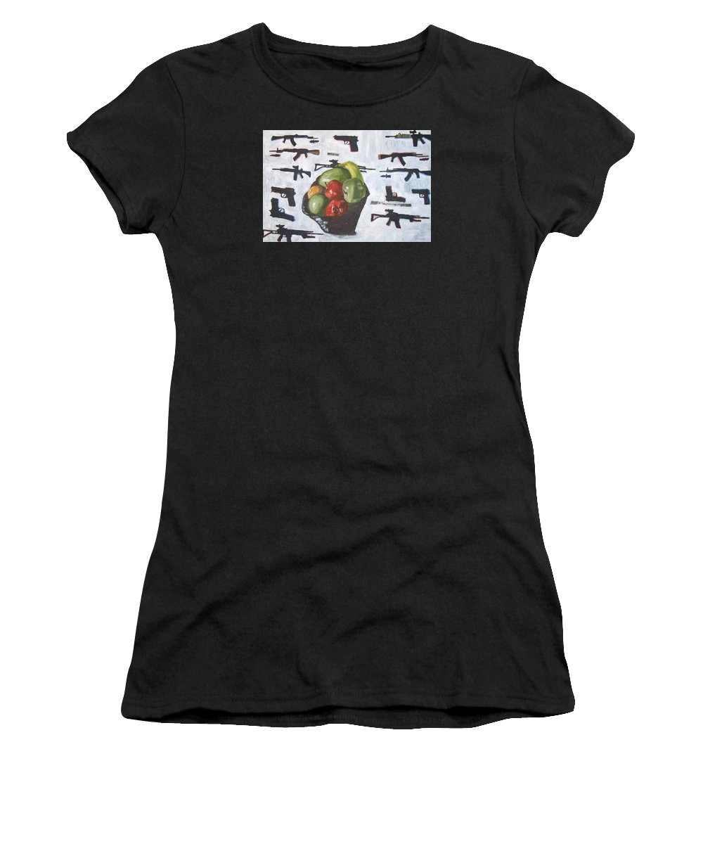 Still Life Women's T-Shirt featuring the painting Real Still Life by Drew Eurek