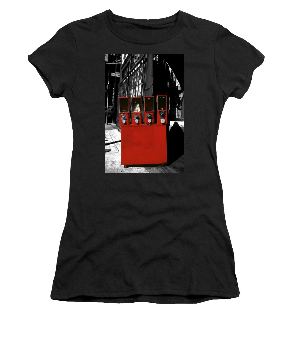 Red Women's T-Shirt featuring the photograph Red Candy by David Hohmann