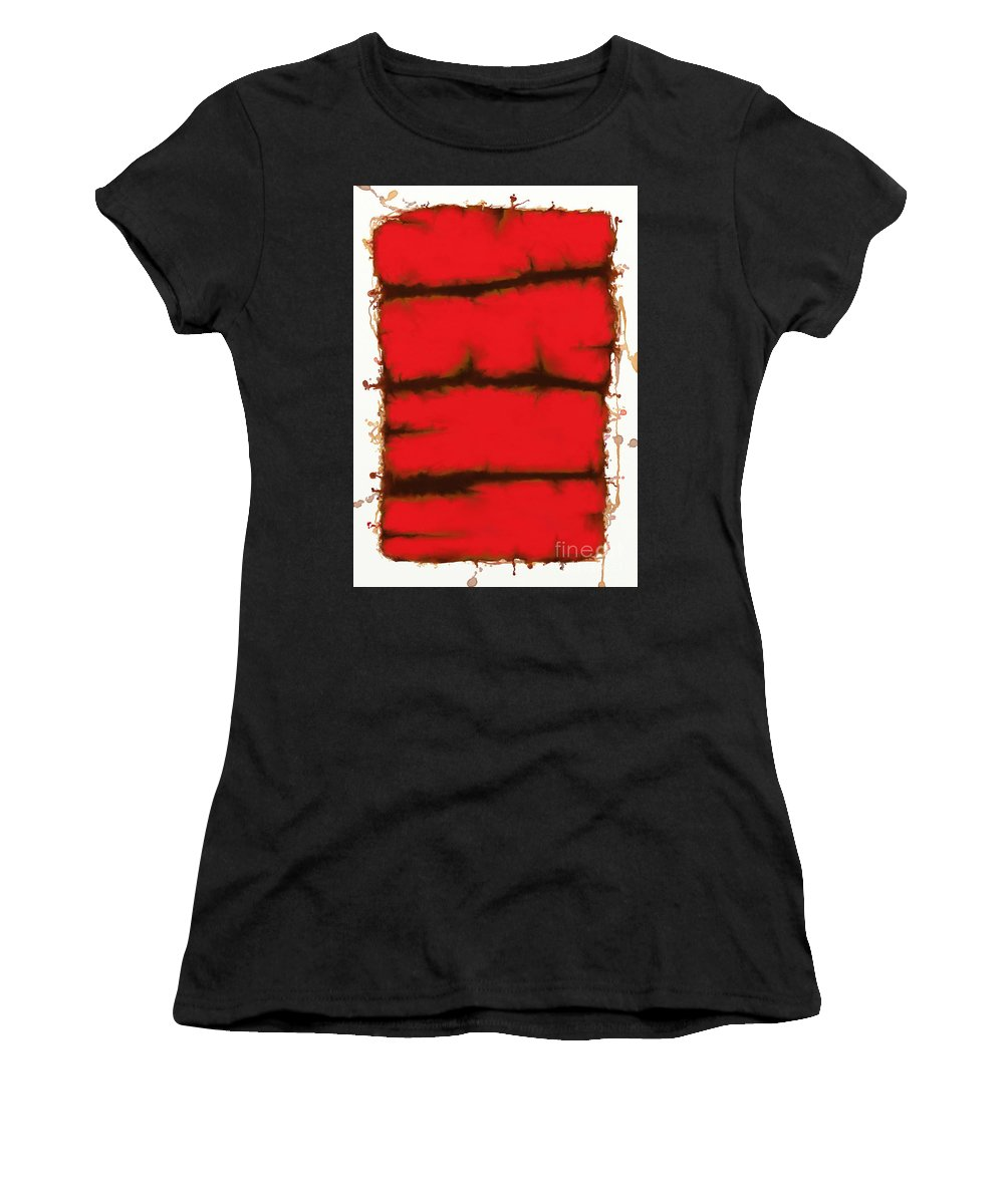 Red Women's T-Shirt featuring the digital art Red Element by Keith Mills